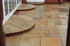 Fossil sandstone & artificial grass After