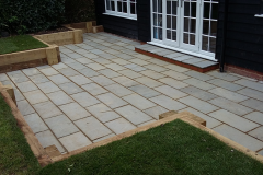 Grey Sandstone & new sleepers After
